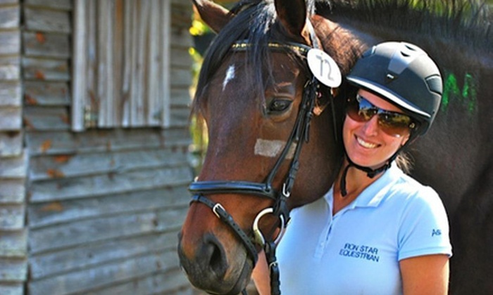 Iron Star Equestrian - Havana: $29 for Two One-Hour Private Horseback Riding Lessons at Iron Star Equestrian in Havana ($70 Value)