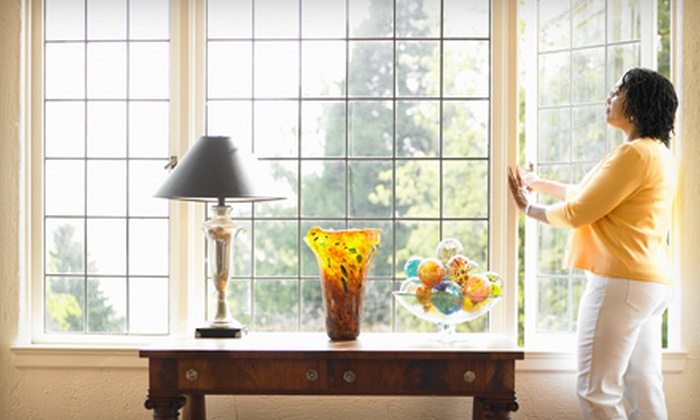 Sampaio Services Company - Multiple Locations: Two or Four Hours of Interior and Exterior Window Cleaning from Sampaio Services Company (Up to 70% Off)