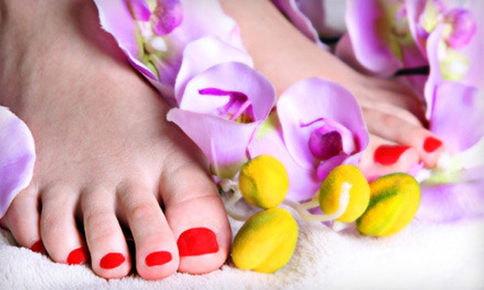 Mai Beauty Nail & Hair Salon - Stickney Point Mobile Home Park: Mani and Spa Pedi or Shellac Mani and Spa Pedi at Mai Beauty Nail & Hair Salon in Sarasota (Up to 54% Off)