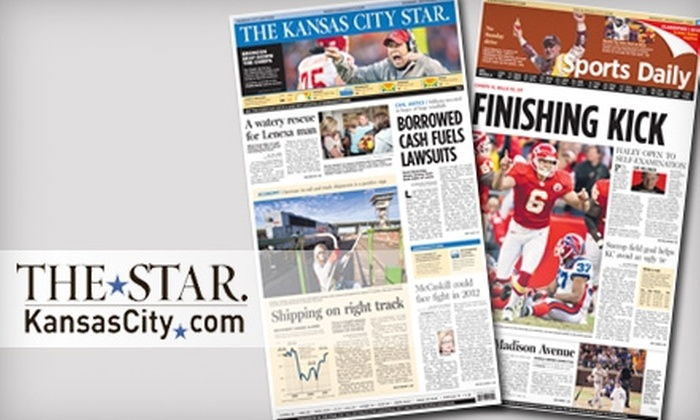 "<i>Kansas City Star</i>: $19 for 26 Sunday Issues of the ""Kansas City Star"" ($76.96 Value)"