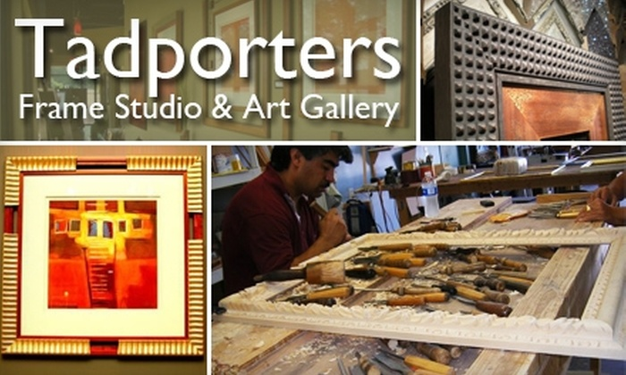 Tadporters Frame Studio & Art Gallery - Collierville: $45 for $100 Worth of Custom Framing at Tadporters Frame Studio & Art Gallery