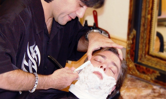 Club Men Barbershop & Spa - Kensington: $32 for a Royal Shave with a Haircut & Traditional Shave at Club Men Barbershop & Spa ($60 Value)