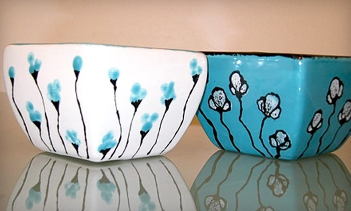 Blazed & Bedazzled - Garver Estates: $10 for $20 Worth of Pottery Painting at Blazed & Bedazzled