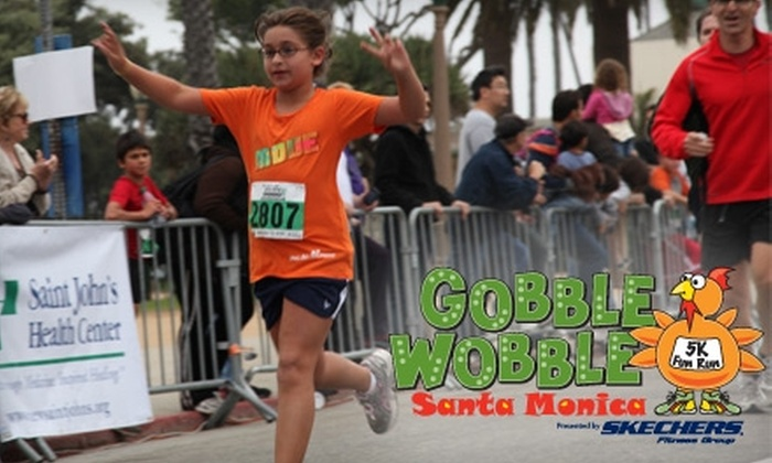 Santa Monica Gobble Wobble 5K - Los Angeles: $20 for an Adult Registration for the Santa Monica Gobble Wobble 5K on Saturday, November 27