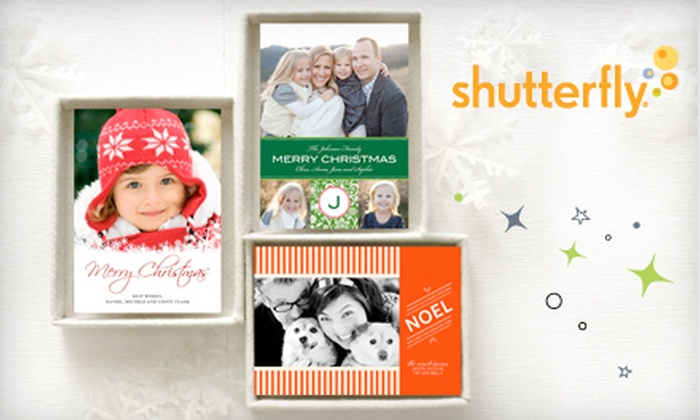 """Shutterfly: $40 for 40 5""""x7"""" Personalized Holiday Photo Cards from Shutterfly ($83.60 Value)"""