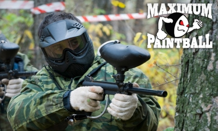 Maximum Paintball TheField - Edison: $12 for All-Day Paintball Pass, Equipment Rental, and 250 Paintballs at Maximum Paintball TheField ($25.87 Value)