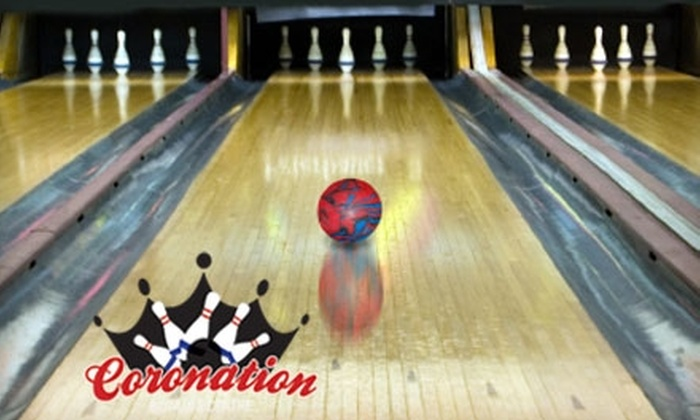 Coronation Bowling Centre - Norwood East: $15 for One Hour of Five-Pin Bowling, a Large Pizza, and Shoe Rental for Up to Four at Coronation Bowling Centre