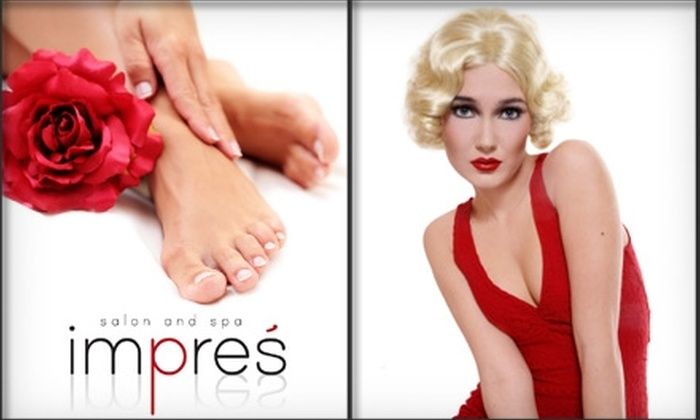 Impres' Salon - Brunswick: $33 for a Mani-Pedi or $22 for a Deep-Conditioning Treatment, Cut, and Style at Impres' Salon