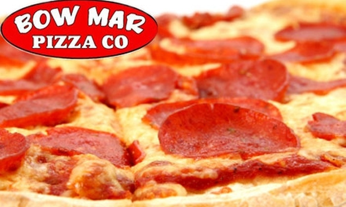 Bow Mar Pizza Co - Littleton: $10 for $20 Worth of Pizza, Subs, and More at Bow Mar Pizza Co