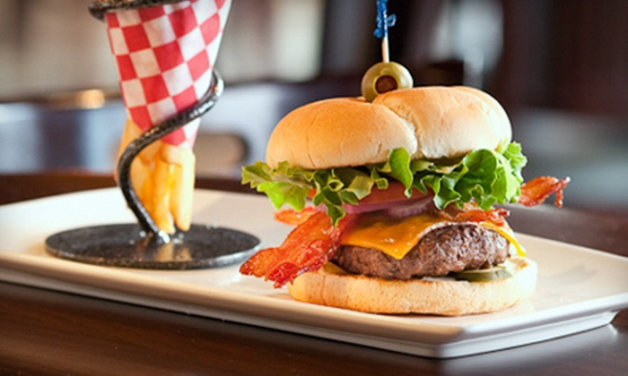 Banff Ave. Brewing Co. - Banff: $29 for Meal for Two with Appetizer, Burgers or Sandwiches, and Beer Sampler at Banff Ave. Brewing Co. (Up to $57.92 Value)