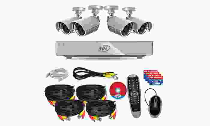 SVAT Web-Ready DVR Security System with 4 Cameras and 500GB Hard Drive: SVAT Web-Ready DVR Security System with 4 Night-Vision Cameras and 500GB Hard Drive