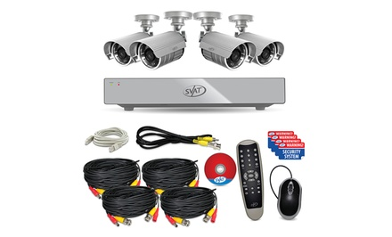 SVAT Web-Ready DVR Security System with 4 Night-Vision Cameras and 500GB Hard Drive