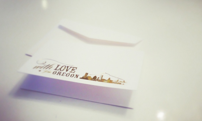 "The Card Bar - Portland: $15 for 15 ""With Love from Oregon"" Cards from The Card Bar ($30 Value)"