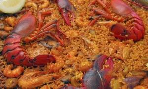 Menú de arroz o paella para dos o cuatro personas con ensalada, postre y bebida desde 16,95 € en el Grao de Castellón