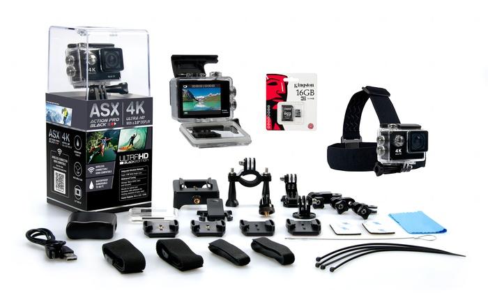 Asx Actionpro 4k Uhd Wifi Camera Groupon Goods