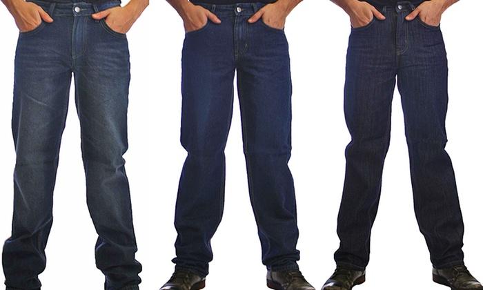 Degree Men's Jeans: Degree Men's Jeans in Basic Denim, Blue, or Sand Wash. Free Returns.