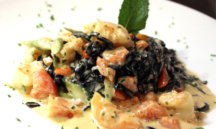 Red Carpet Italian Restaurant - Miami: Pasta Entree for Two at Red Carpet Italian (33% Off)