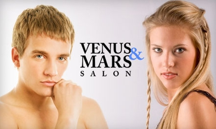 Venus and Mars Salon - Chamberlin Arlington Heights: $30 for a Women's Haircut and Style ($60 Value) or $15 for a Men's Haircut and Style ($30 Value) at Venus and Mars Salon