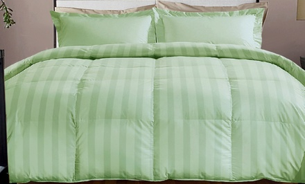 Hotel Grand 800-Thread-Count Solid Down-Alternative Comforter. Multiple Sizes from $49.99–$74.99. Multiple Colors.