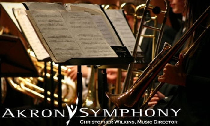 Akron Symphony Orchestra - Multiple Locations: $17 for a Ticket to One of Three Pops Shows with the Akron Symphony Orchestra ($35 Value)
