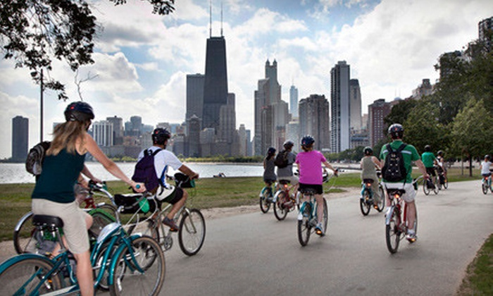 Bobby's Bike Hike - Near North Side: $49 for a City Lights at Night or Lakefront Neighborhoods Bike Tour for Two from Bobby's Bike Hike ($100 Value)