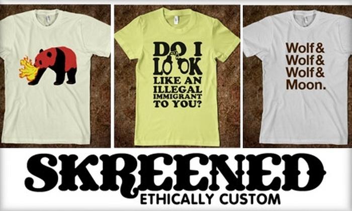 Skreened - Phoenix: $15 for $30 Worth of Online, Custom-Designed Clothing at Skreened