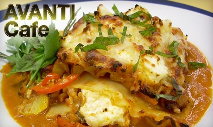 Avanti Cafe - Costa Mesa: $10 for $20 Worth of Cafe Fare and Drinks at Avanti Cafe in Costa Mesa