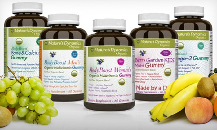 Gummy Vitamin Packages: Nature's Dynamics Gummy Vitamin Packages for Women, Men, or Kids (Up to 59% Off)