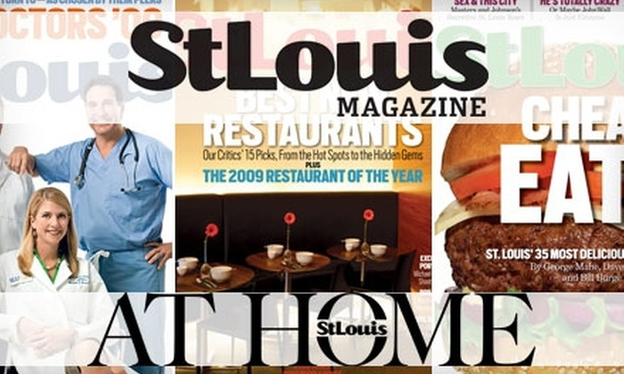 St. Louis Magazine - St Louis: $8 for a One-Year Subscription to St. Louis Magazine and St. Louis AT HOME ($19.95 Value)