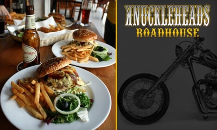 Knuckleheads Roadhouse - Hampton Roads: $10 for $20 Worth of Burgers, Pizzas, Beer, and More at Knuckleheads Roadhouse