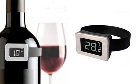 Termómetro digital para botellas de vino