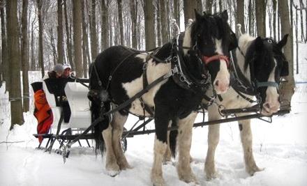 Wolcott Farms: 2-Person Sleigh Ride or Wagon Ride - Wolcott Farms in Warsaw