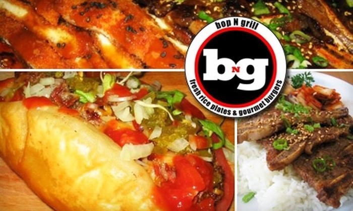 bopNgrill - Evanston: $5 for $10 Worth of American-Korean Fast-Food Fusion at bopNgrill in Evanston