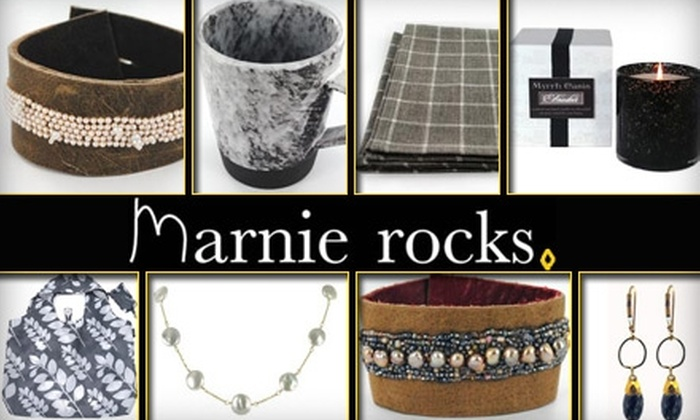 Marnie Rocks - Great Uptown: $25 for $50 Worth of Jewelry, Clothing, Home Accessories, and More from Marnie Rocks