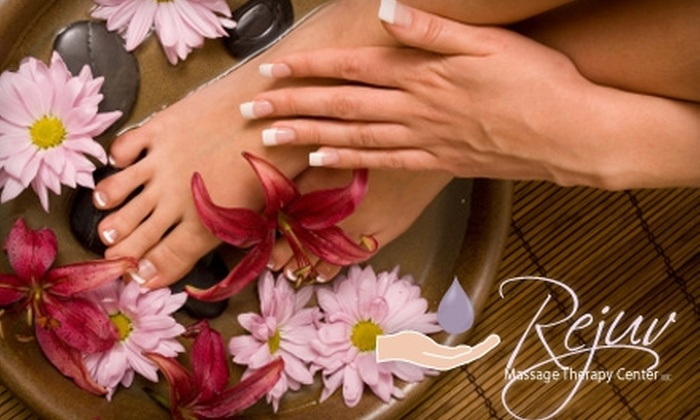Rejuv Massage Therapy Center - 5: $49 for a Relaxation Massage and Hand-and-Foot Sugar Scrub at Rejuv Massage Therapy Center ($100 Value)