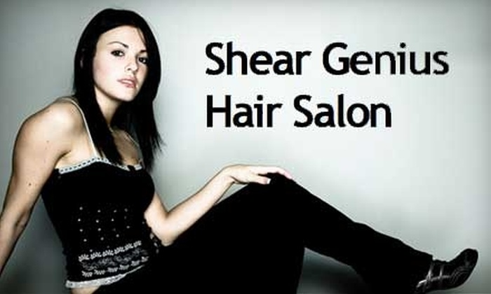 Shear Genius Hair Salon - 5: $125 for Keratin Hair Straightening ($250 Value) or $15 for Women's Design Cut ($30 Value) at Shear Genius Hair Salon