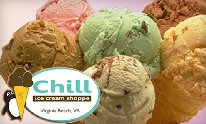 Chill Ice Cream Shoppe - Northeast Virginia Beach: $3 for $8 Worth of Frozen Treats at Chill Ice Cream Shoppe