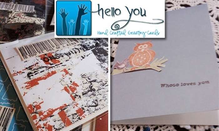 Hello You Cards - Nashville: $12 for 10 Handcrafted Greeting Cards from Hello You Cards