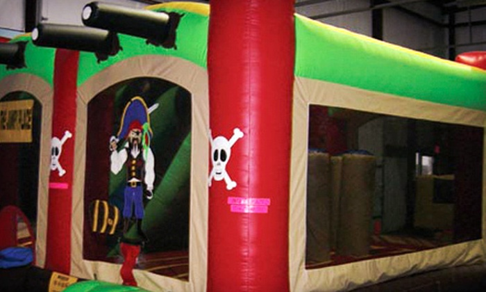 The Jumpy Place - Multiple Locations: Four or Six All-Day Bounce-House Visits at The Jumpy Place (Up to 52% Off)