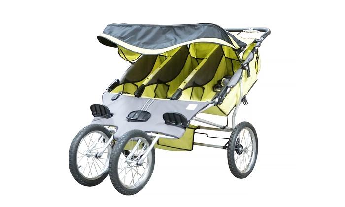 Up To 47 Off On Bebelove Triple Jogging Stroller Groupon Goods