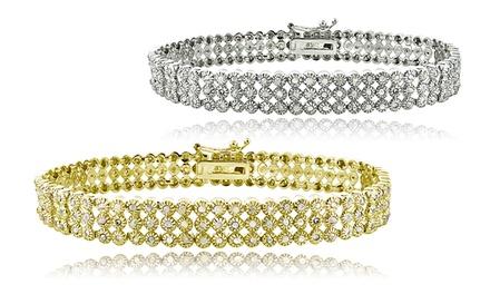 1.00 or 2.00 CTTW Diamond 3-Row Bracelet for $89.99 or $139.99