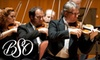 "Baltimore Symphony Orchestra - North Bethesda: $35 Ticket to an ""Off the Cuff"" Performance by Baltimore Symphony Orchestra (Up to $88 Value). Choose from Three Performances."