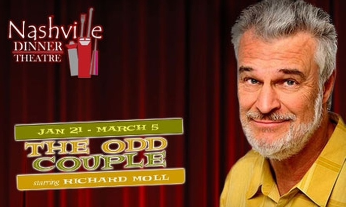 "The Nashville Dinner Theatre - Downtown Nashville: $16 for One Show Ticket to ""The Odd Couple"" at The Nashville Dinner Theatre (Up to $32 Value)"