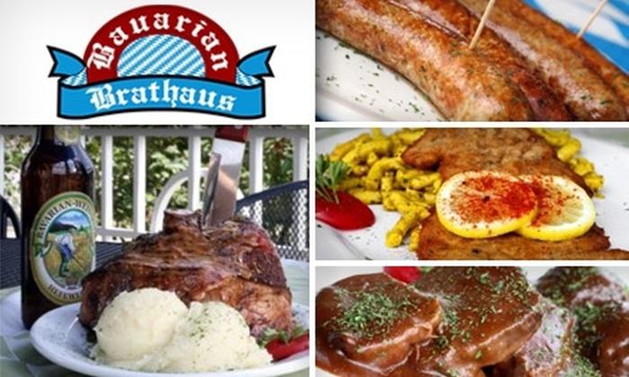 Bavarian Brathaus - Cary: $20 for $40 Worth of Grub and Guzzle at the Bavarian Brathaus