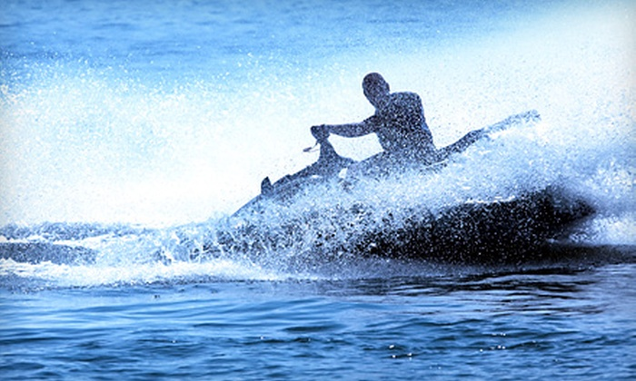 Life's a Beach Watersports - Pompano Beach: $64 for WaveRunner Outing with All-Day Cabana Rental from Life's a Beach Watersports in Pompano Beach ($143.10 Value)
