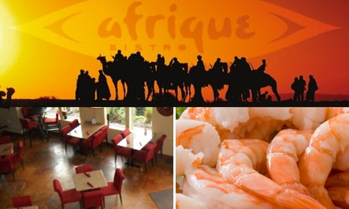 Afrique Bistro - Eliot: $13 for $30 Worth of Pan-African Cuisine and Drinks at Afrique Bistro