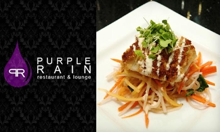 Purple Rain Restaurant & Lounge - Suwanee-Duluth: $25 for $50 Worth of Tapas and Drinks at Purple Rain in Duluth (or $10 for $25 Worth of Lunch and Brunch Fare)