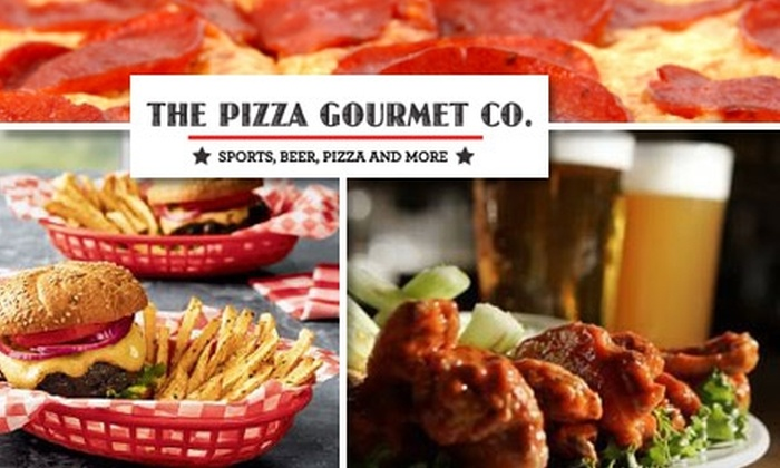 The Pizza Gourmet Company - Multiple Locations: $10 for $20 Worth of Casual Italian Fare and Drinks at The Pizza Gourmet Company