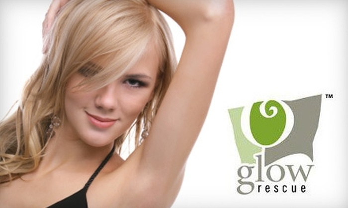 Glow Rescue - Downtown: $99 for Three Laser Hair-Removal Sessions at Glow Rescue