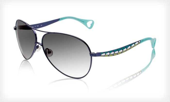 Pretty in Python Sunglasses: $39 for Pretty in Python Sunglasses by Betsey Johnson ($250 List Price). Three Colors Available.